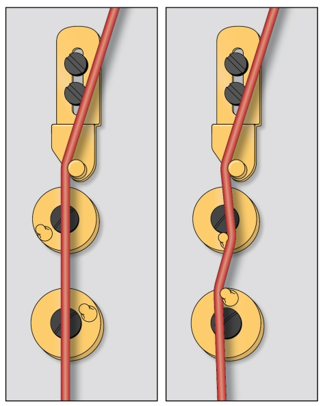 When a string is in good condition, it can be gripped well by the discs, resulting in a clean sound and accurate intonation.